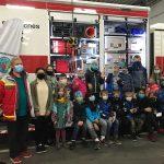 Kampfkunstschule zu Besuch beim Roten Kreuz