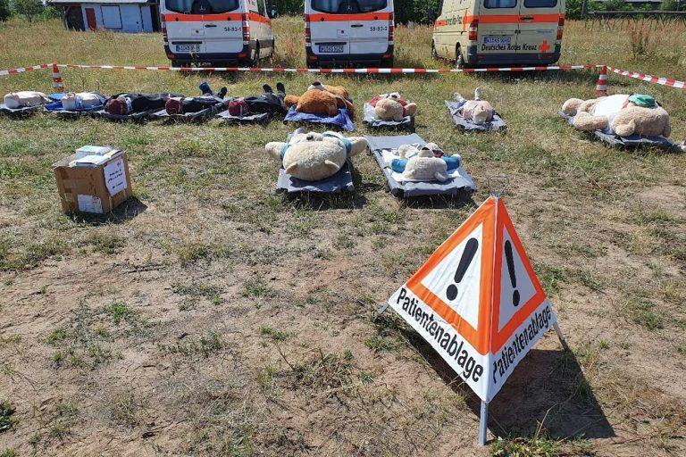 DRK Arheilgen in Aktion – Einsatzübung von Bereitschaft und Jugendrotkreuz