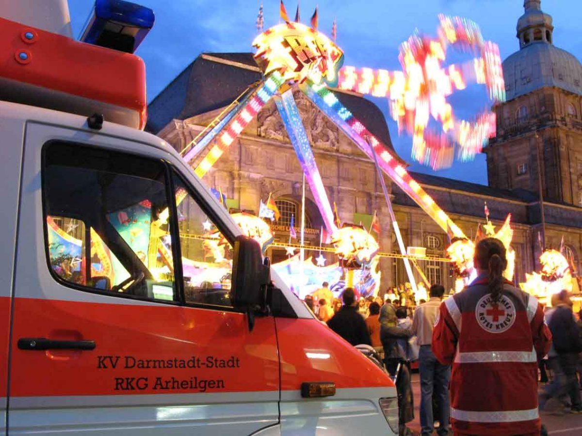 Sanitätsdienstliche Betreuung eines Volksfestes in Darmstadt - DRK Arheilgen
